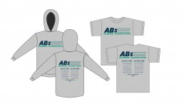 ABs General Contracting LLC. two color screen printed design by John Webb Designs