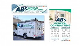 ABs General Contracting LLC. truck wrap design by John Webb Designs