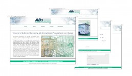absgeneralcontractingllc.com HTML website design by John Webb Designs
