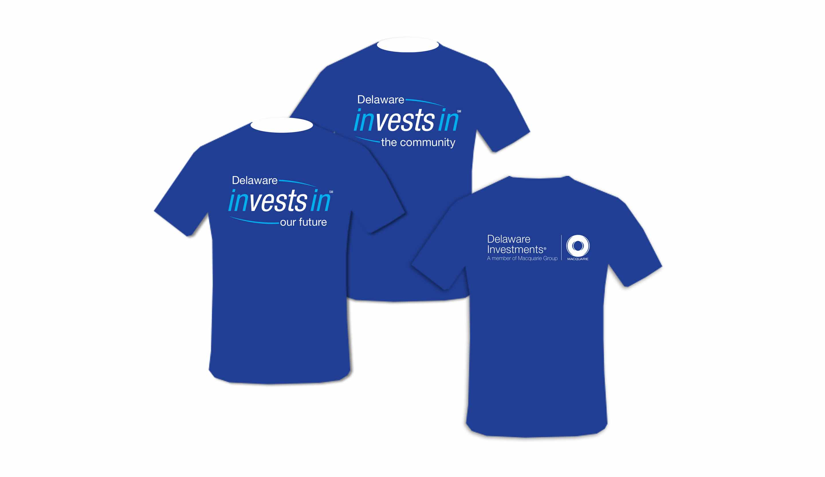 Delaware investments collateral design john webb designs for T shirt printing delaware