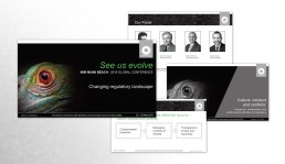 Macquarie Conference powerpoint presentation layout design By John Webb