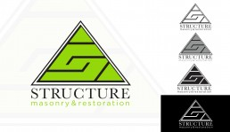 Structure Masonry & Restoration brand mark by John Webb Designs