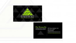 Structure Masonry business card design by John Webb Designs